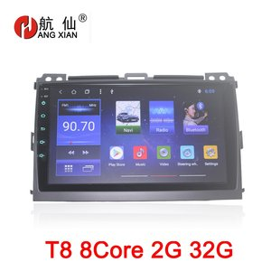 """HANGXIAN 9"""" octa 8core car radio for Toyota Prado 120 2004-2009 Android 8.1 car dvd player with 2G RAM,32G Rom,steering wheel"""