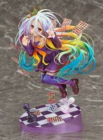 Anime Figures 20CM NO GAME NO LIFE GAME LIFE White 3 Generation Poker 1/8 Scale PVC Figure Collectible Figurines Toy Model Gift