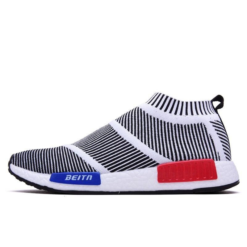 Chaussures de pied d'été léger respirant baskets homme léger Air Mesh amorti chaussures décontractées Fly Line mode bottes pour hommes