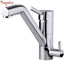 Bagnolux Polish Silver Finish Osmosis Reverse Tri Flow Water Filter Tap 3 Way Sink Mixer Three Way Kitchen Faucet 3in1 Water Tap