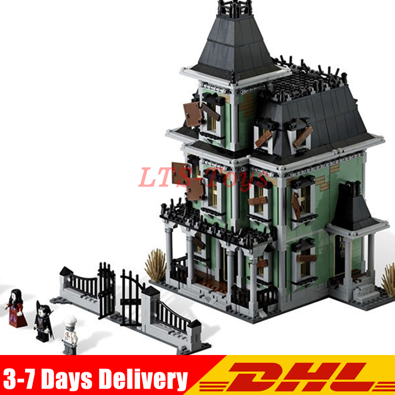 IN Stock DHL LEPIN 16007 2141Pcs Monster Fighter The Haunted House Model Set Building Kits Model Compatible with Legoes 10228 lepin 16007 2141pcs monster fighter the haunted house model set building kits model compatible with 10228 educational toys gifts