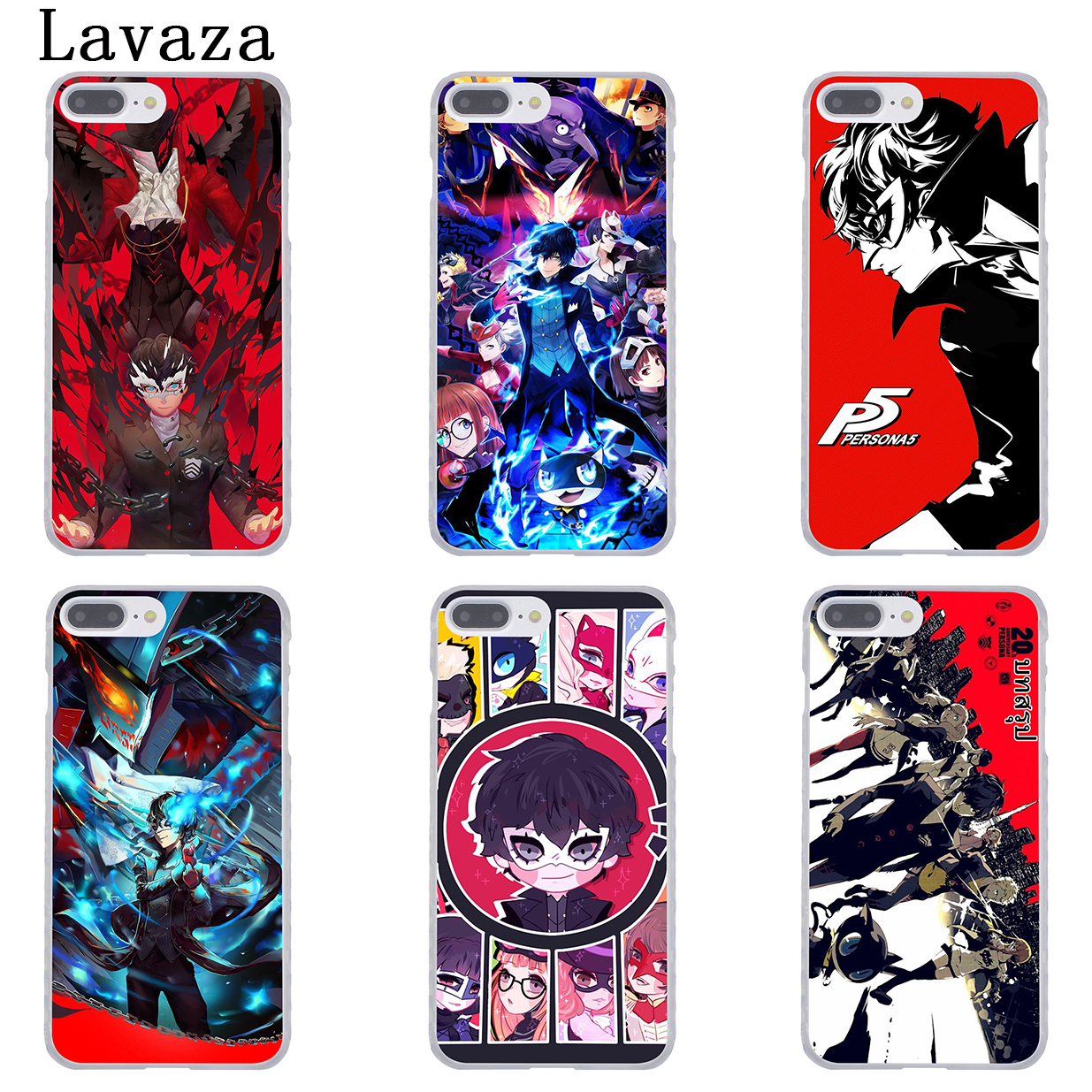 Lavaza p5 P Persona 5 Hard Coque Shell Phone Case for Apple iPhone X 10 8 7 6 6s Plus 5 5S SE 5C 4 4S Cover