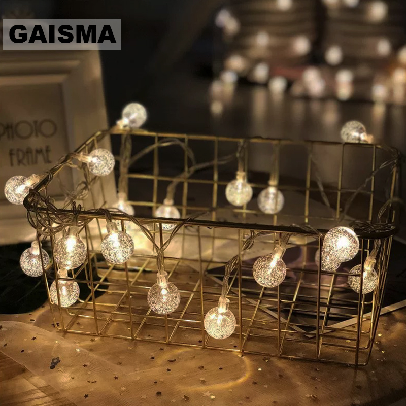 1.5/3/6M Battery Operated Fairy Lights Christmas Garland LED String Lights Decoration Wedding For Party Bedroom Holiday Lighting