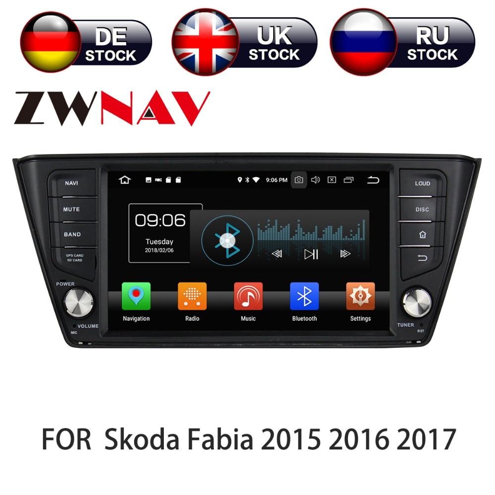 Android 8 4 + 32 Auto GPS di navigazione multimediale nastro recoder Per Skoda Fabia nj3 2015 2016 2017 2018 DVD lettore stereo unità