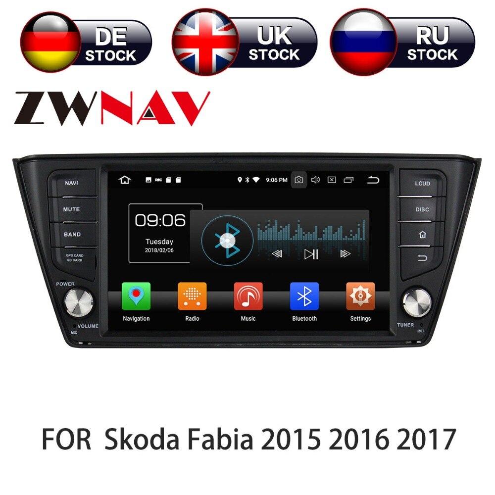 Android 8 4 + 32 Voiture GPS navigation multimédia bande recoder Pour Skoda Fabia nj3 2015 2016 2017 2018 DVD lecteur stéréo unité