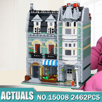 LEPIN 2462Pcs Genuine New City Street Green Grocer Model Building Kit Blocks Bricks Toy Educational Compatible