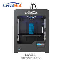FREE SHIPPING DX02 300*250*300mm Dual Extruder Creatbot 3d printer 3D Printer Machine with USB 2 PLA ABS for free