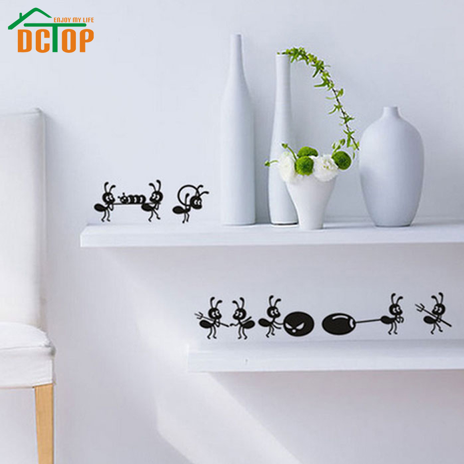 online get cheap wall tile adhesive aliexpress com alibaba group dctop 8 ants move house funny wall stickers home decor creative stickers adhesive vinyl wall decals