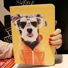 Tablet Case for Apple ipad mini 4 Fashion Dog picture print multifunction PU leather protective Cover stand shell coque para