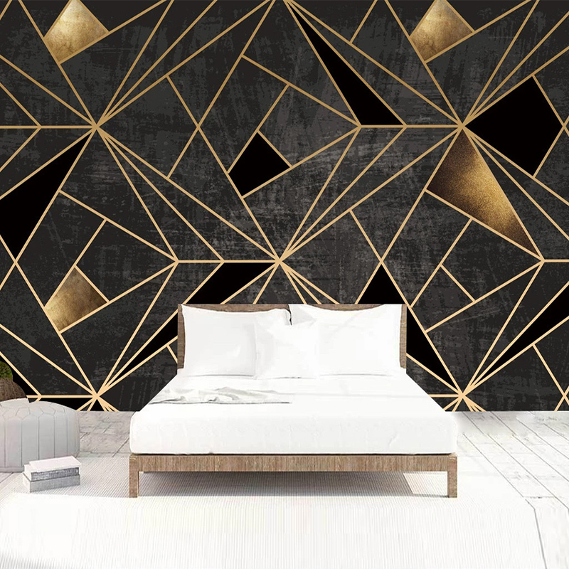 Modern Abstract Art Geometric Pattern Mural Wallpaper 3D Stereo Line Fresco Living Room TV KTV Bar Creative Decor Wall Paper 3 D