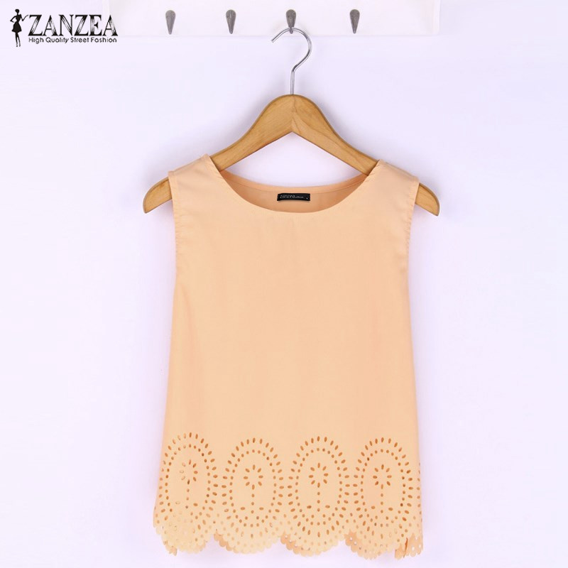 717b8f22dd8 Detail Feedback Questions about ZANZEA 2018 Women Summer Style Cropped Top  Fashion Chiffon Hollow Out Sleeveless Casual Tank Blusa Femininas Plus Size  S 4XL ...
