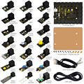 2016 НОВЫЙ! ЛЕГКО plug стартер обучение kit для Arduino ж/контроллер + датчики + USB + Кабели + PDF