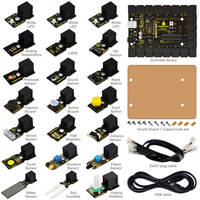 2016 NEW! EASY-plug starter learning kit for Arduino w/ controller+sensors+USB+Cables+PDF