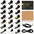 2016 ¡ NUEVO! FÁCIL-plug starter kit de aprendizaje para Arduino w/controller + sensores + USB + Cables + PDF