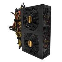Высокая эффективность Номинальная 3450 Вт Active PFC Питание с 14 см низкая Шум вентиляторы для Bitcoin горнодобывающие машины высокого производитель