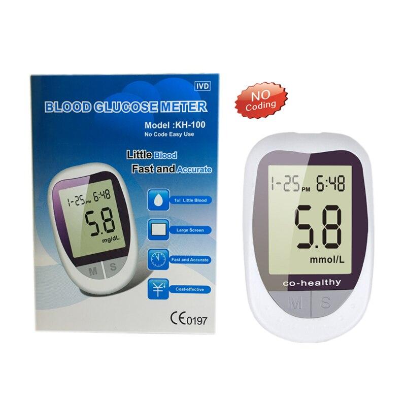 ZOSS ABS Digital Blood Glucose Meter Diabetic with 50pcs Test Strips 50pcs Lancets Needles Blood Sugar Detection Dlucose Meter