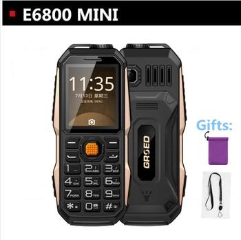mini Phone 3800Mah Big Battery Russian language keyboard LED Flash Light Power Bank elder student Phone Shockproof Dustproof