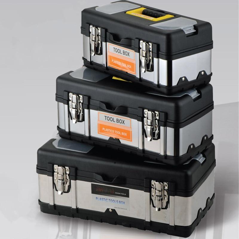 Портативный ящик для инструментов, ящик для хранения инструментов, большая емкость, оборудование, Электрический ящик для инструментов для ...