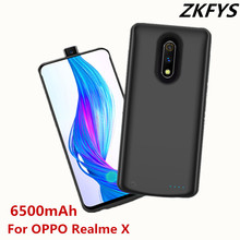 ZKFYS 6500mAh Portable Power Bank Power Case For OPPO Realme X High Quality External Battery Pack Backup Charger Case