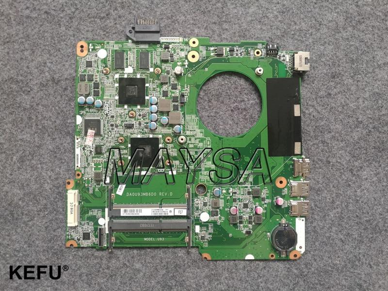MODÈLE: U92 734824-501 POUR HP PAVILION 15-N série mère d'ordinateur portable DA0U92MB6D0 REV: D carte mère 8670 m/2g A76M A10-5745M