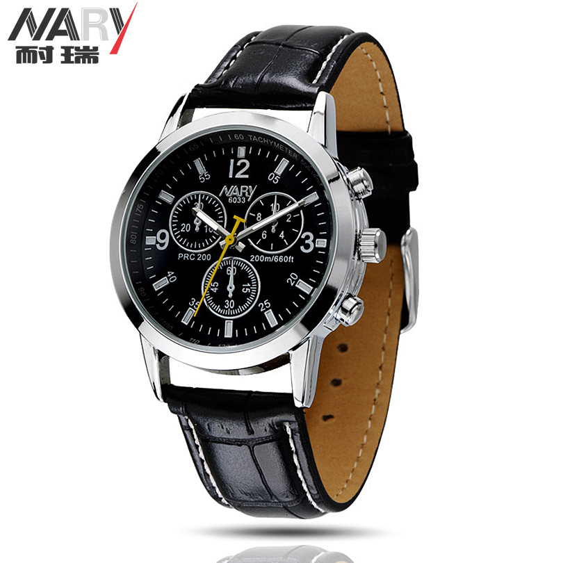 aliexpress com buy nary new men watch leather strap analog aliexpress com buy nary new men watch leather strap analog display quartz watch mens luxury brand watch fashion casual wristwatch man clock from reliable