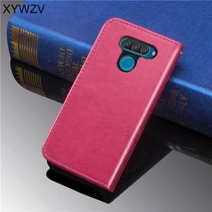 Image 3 - For LG Q60 Case Soft Silicone Filp Wallet Luxury Shockproof Phone Bag Case Card Holder Fundas For LG Q60 Back Cover For LG Q60