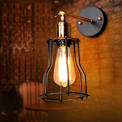 Nordic Loft Style Iron Vintage Wall Light Fixtures RH Industrial Wind Wall Sconce For Stair Bedside Wall Lamp Indoor Lighting loft style edison decorative wall sconce mirror wall light fixtures vintage industrial lighting wall lamp for home lampara