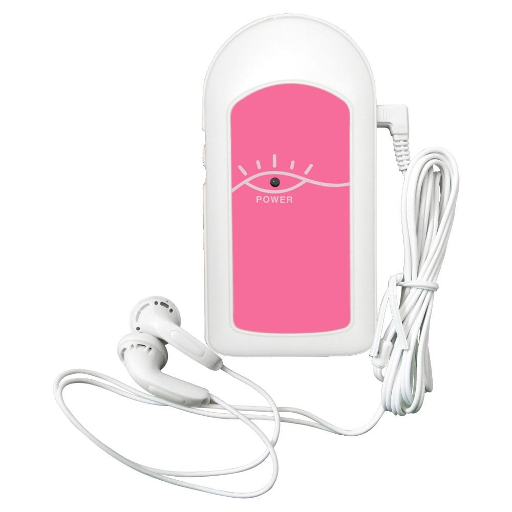 Blood Pressure Freies Gel Heimgebrauch Rosa Farbe Handheld Pocket Fetal Doppler Lcd Bildschirm Sonoline C1 2 M Sonde