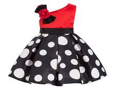 все цены на Europe and America Kids Toddler Girls V neck Bow Dress Children's Dot Pattern Princess Dresses For Girls Birthday Party dresses