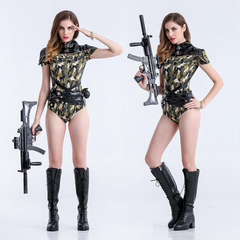 New Female Cop Uniform Outfits Sexy Police Officer Costume Women Club Game Deguisement Halloween Cosplay Costumes Plus Size XL