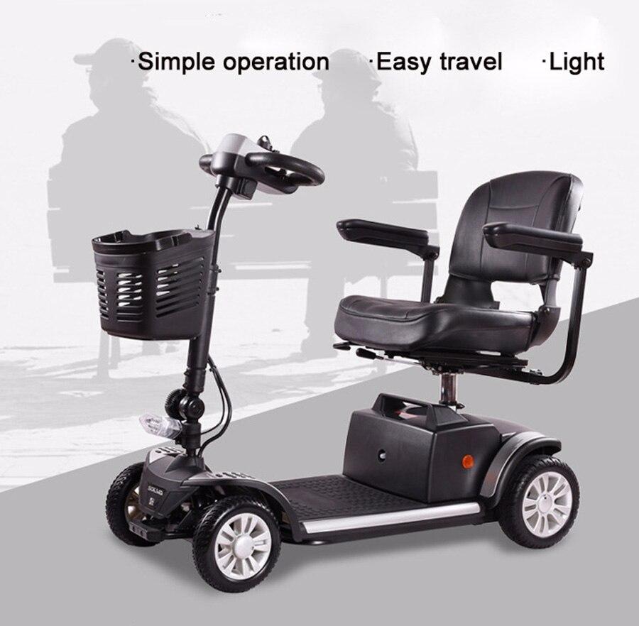 Scooter électrique adulte multifonction personnalisable avec panier 12 V 180 W pliant avec batterie Li-ion rouge jaune noir - 4