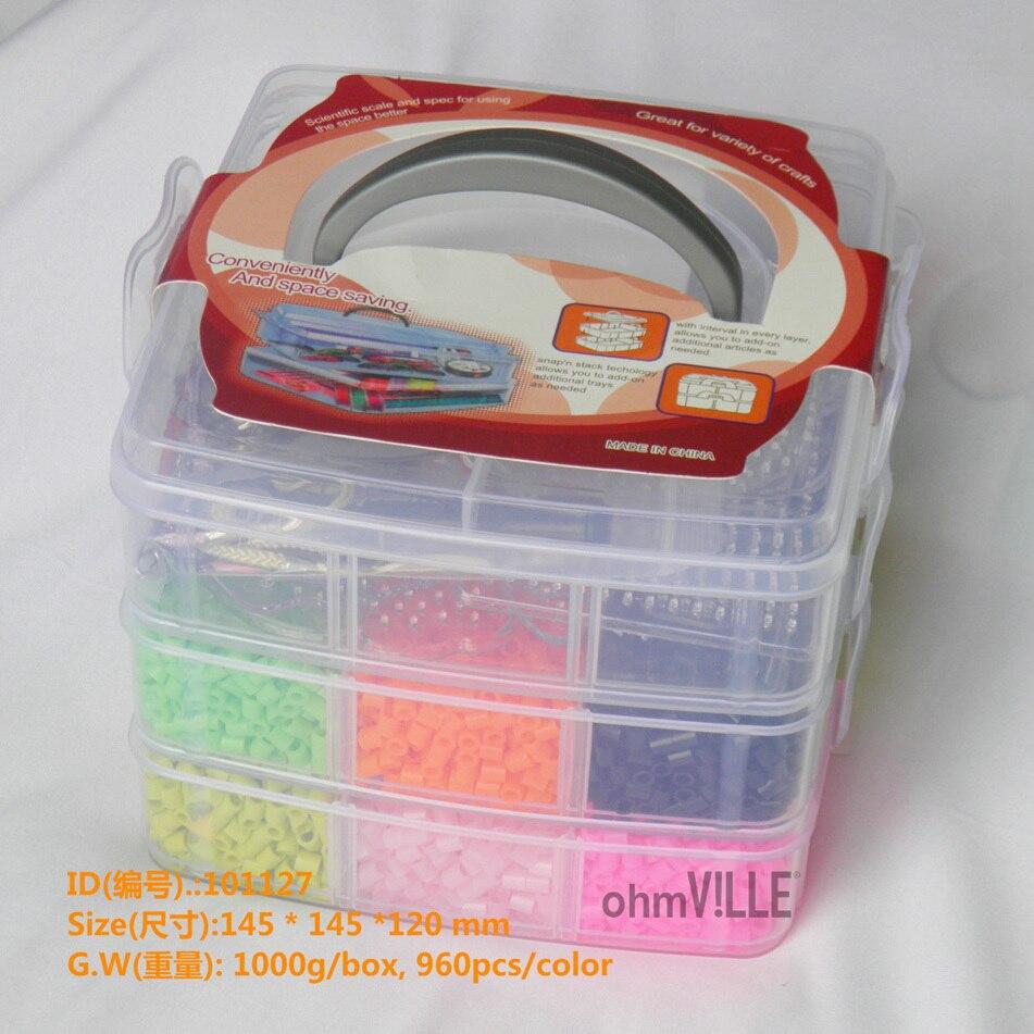12000 pcs/lot 12 Couleurs Box Set Pour 5mm Perler Perles + Panneau Perforé + Clip + Fer Papier + Bande + livraison Gratuite