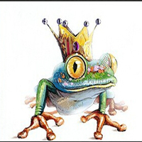 New Picture On Canvas Hand Painted Modern Cartoon Wall Painting King Of Orangutans Frog Animals Paintings