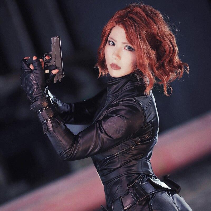 The Avengers Black Widow Cosplay Natasha Romanoff Costume Halloween Outfit Adult Women Superhero Suit Coat Custom Made