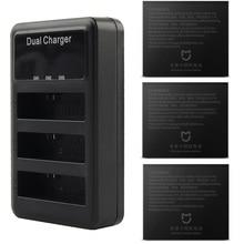 Mijia 4K Batterij Dual Batterijen Charger 3 Slot Lcd Opladen Batterij Case Voor Xiaomi Mijia Mini Action Sports Camera accessoires