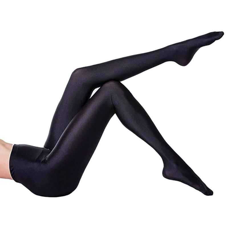 1877aa2c63ac7 NEW Women Lustrous Black Leggings High Waist Pants Shaping Pants Leggings  Chinlon High Stretch Legging L2