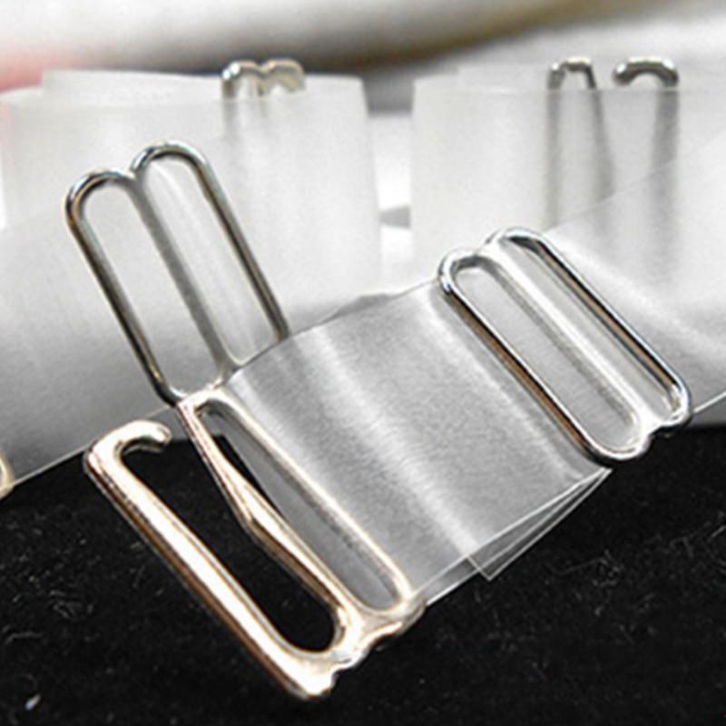 4317d3a0af701 6pcs Womens Metal Buckle Bra Straps Belt Elastic Transparent Silicone Bra  Straps Adjustable Baldric Intimates Accessories W0002