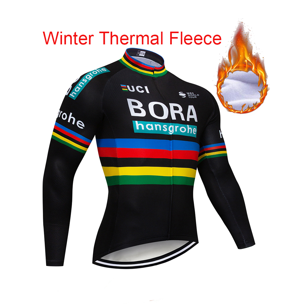 цена на Team Pro Bora Winter Long Sleeve Warm Cycling Jersey MTB Bike Clothes Cycling Clothing Bicycle Sportwear Maillot Ropa Ciclism