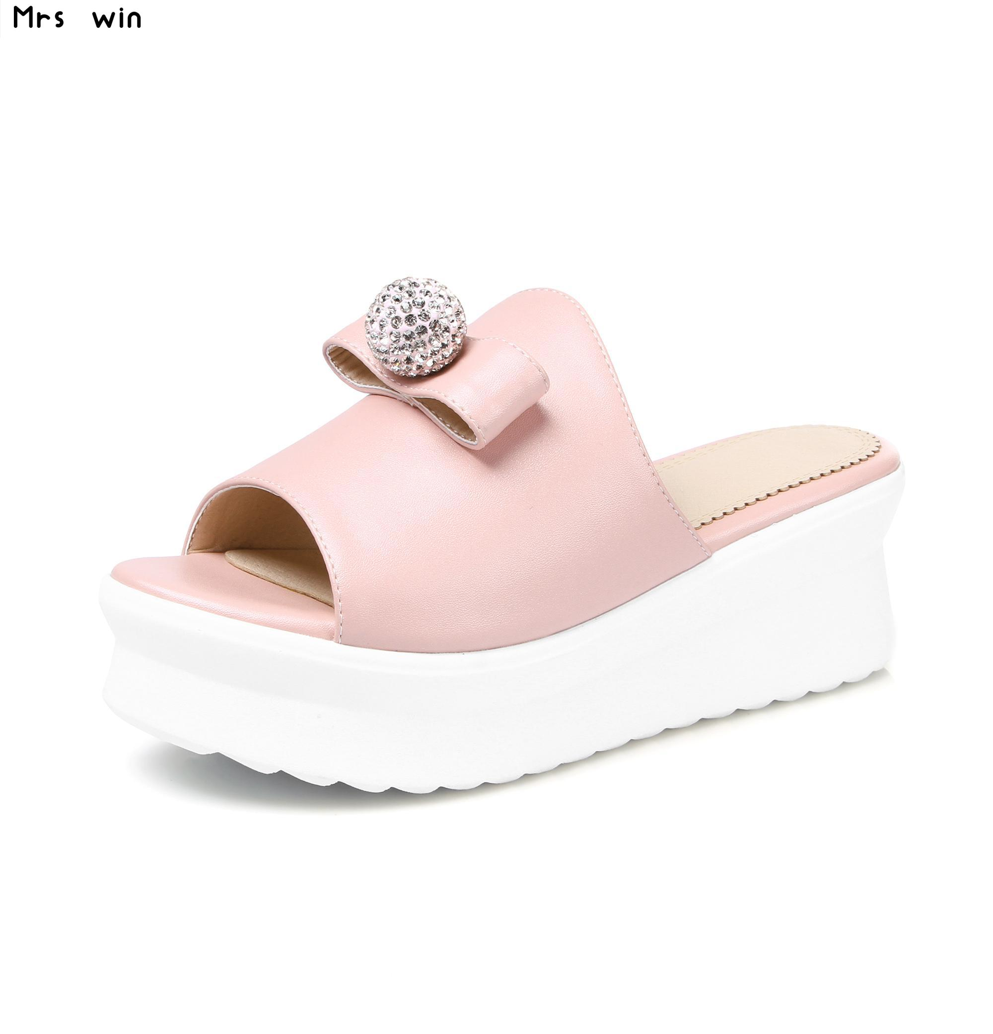2017 New fashion women sandals wedges slippers casual women slipper summer platform shoes woman blue pink white phyanic 2017 gladiator sandals gold silver shoes woman summer platform wedges glitters creepers casual women shoes phy3323