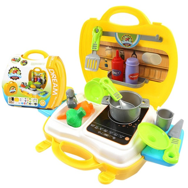 Children Funny Classic Pretend Play Multifunctional Kitchen Tableware Learning Education Toys