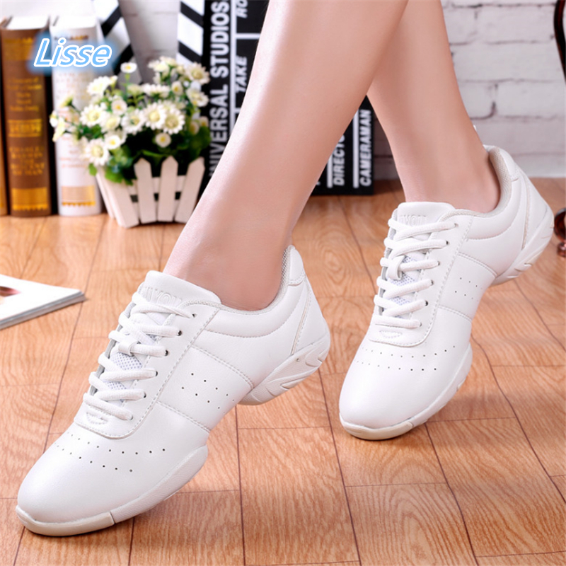 2018 Competitive Aerobics Shoes Soft Bottom Fitness Shoes Men Women Jazz Shoes Professional Training Dance Sneakers