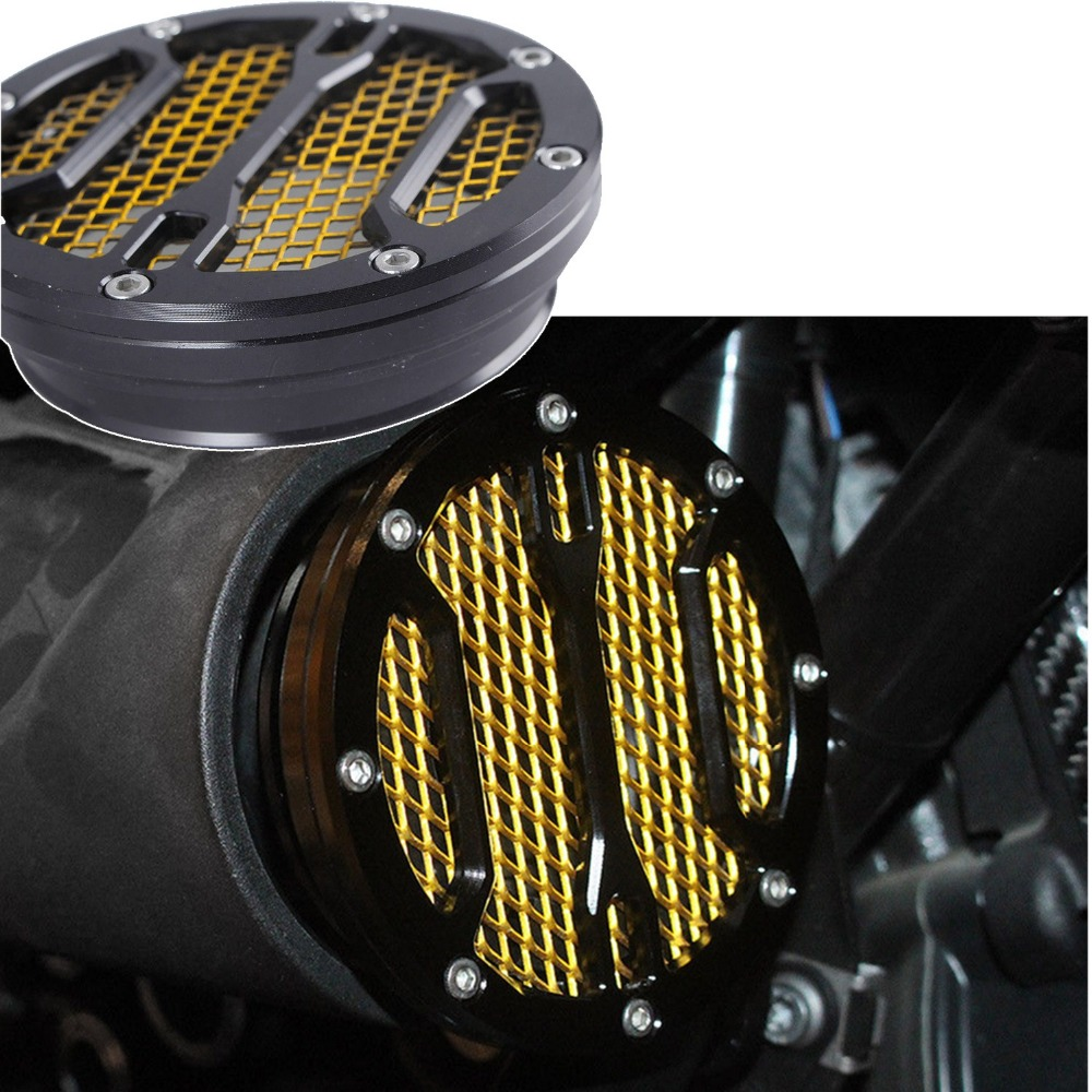 For BMW R nine T Air Intake Cover CNC intake Filter Black Gold 9 r9t 2014 2015 2016 2017 motorcycle parts