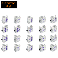 China Led Stage Lighting 20 Pack Uplight PAR Battery Powered, Wireless dmx, RGBAW+UV 6 in 1, 12 LED, 18 watts Each White Housing