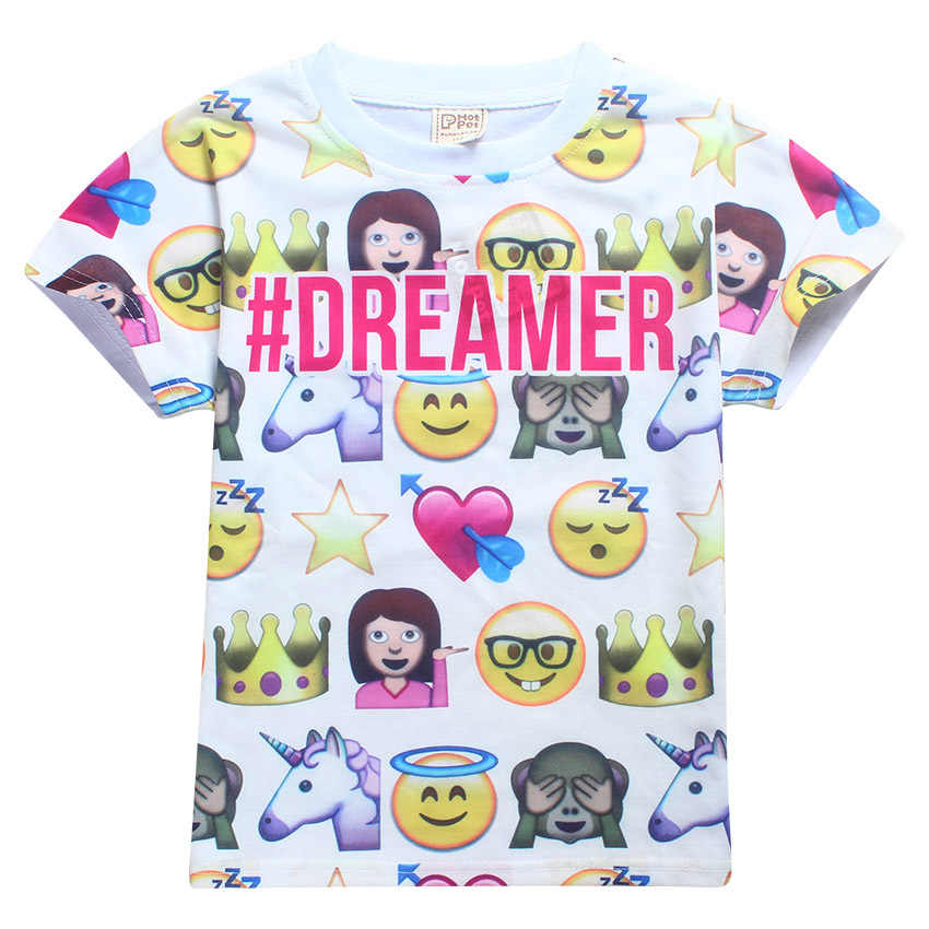 37a4a008e444 2018 Trolls children clothes Tops Tees boys and girls T-Shirts smiley emoji t  shirt