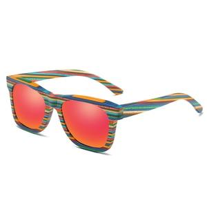 Image 5 - EZREAL Polarized Wooden Sunglasses Men Bamboo Sun Glasses Women Brand Designer Original Wood Glasses Oculos de sol masculino