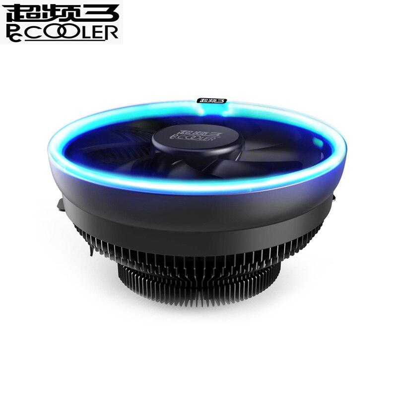 PcCooler 12 cm LED azul apertura cpu PWM silencioso refrigerador de la cpu de AMD AM3 AM4 Intel 775 115X cpu radiador de refrigeración bastante