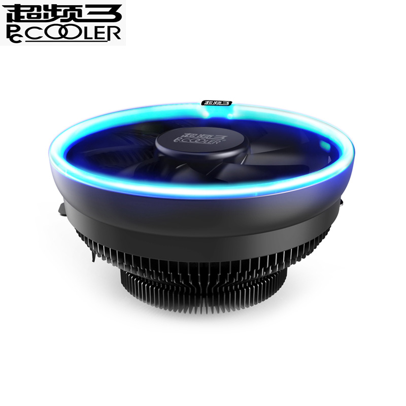 PcCooler 12cm LED Blue aperture cpu cooling fan PWM silent cpu cooler for AMD AM3 AM4 Intel 775 115X cpu cooling radiator quite купить в Москве 2019