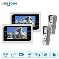 JeaTone Door Access Control 7 LCD Display Video Doorbell Door Phone 1200TVL Home Security Camera Intercom