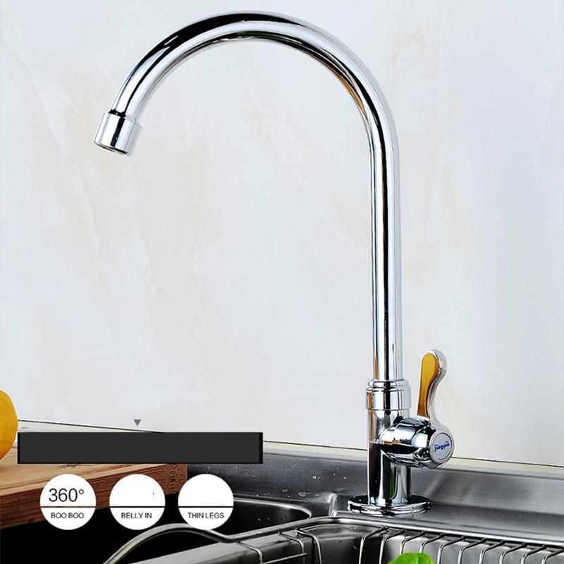 360 Swivel 8909 Basin Sink Water Vessel Lavatory Tap Mixer Faucet Deck Mount Kitchen Torneira Chrome