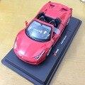 Bburago 1:24 модели автомобилей подлинные модели сплава errari 458 Паук автомобилей для автомобиля коллекция игрушка в подарок автомобиль высокого качества